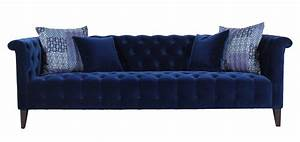 marco sofa tufted in navy blue velvet h195218 usa With navy blue tufted sectional sofa