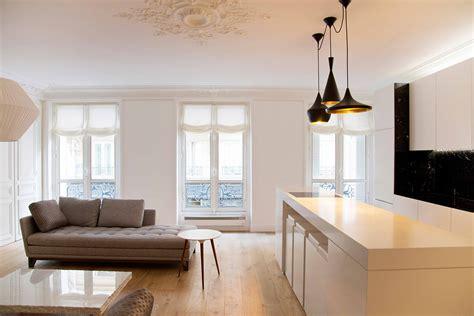 plan ilot cuisine rénovation d un appartement rue de lille 75