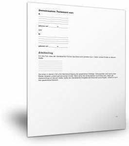 Berliner Testament Beispiel : berliner testament muster vorlage patientenverf gung kostenlos ~ Orissabook.com Haus und Dekorationen