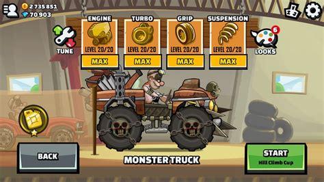 hill climb racing monster truck hill climb racing 2 cup survivor bundle monster truck