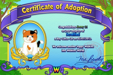 unused webkinz adoption codes