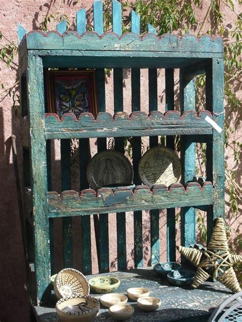 vintage mexican trastero  shades  blue articulos de