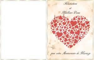 carte de mariage mariage carte anniversaire de mariage a imprimer
