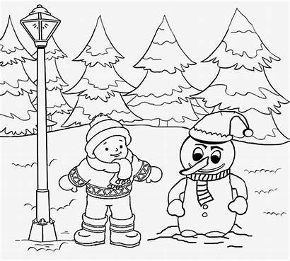 Scenery Coloring Pages Drawing Printable Outline Scene