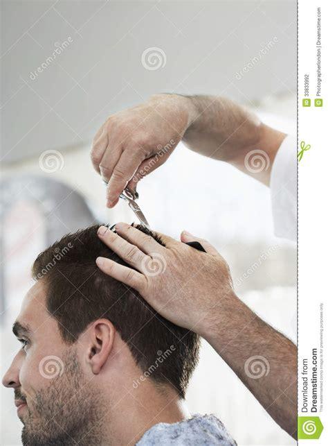 man   haircut  hairdresser stock photo