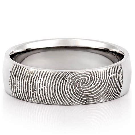 Fingerprint Wedding Band  Men's Fingerprint On Outside Of. Kunzite Rings. Gothic Style Wedding Rings. Inset Engagement Rings. Akoya Necklace. Rose Cut Sapphire. Designer Diamond Engagement Rings. Entry Bracelet. Red Color Earrings