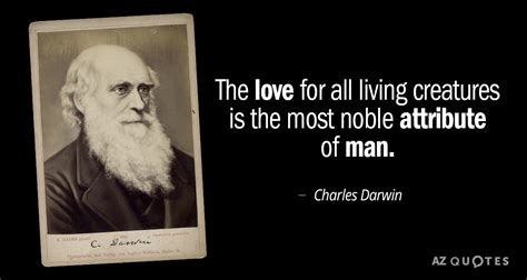 charles darwin quote  love   living creatures