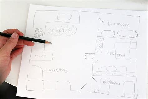 draw  floor plan  hand  pictures ehow