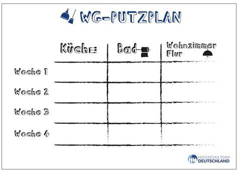 Wohnung Putzen Plan by Die Besten 25 Putzplan Wg Ideen Auf Tagesplan