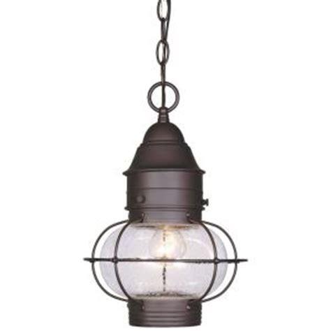 home depot outdoor hanging lights cordelia lighting hanging outdoor natural bronze 10 in