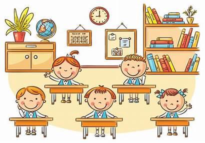Clipart Student Painting Classroom Cartoon Transparent Clip