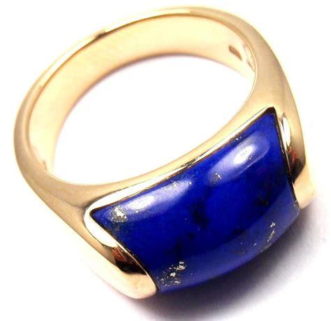 bvlgari 18k white gold bzero1 ring 3 band jewelry 18k white bulgari lapis lazuli yellow gold band ring at 1stdibs