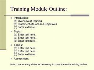 Awesome training module template inspiration example for Training module template
