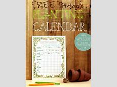Free Printable Planting Calendar Homestead & Survival