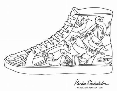 Coloring Shoes Shoe Pages Nike Converse Jordan