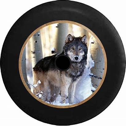 Jeep Jl Camera Tire Snowy Forest Wolf