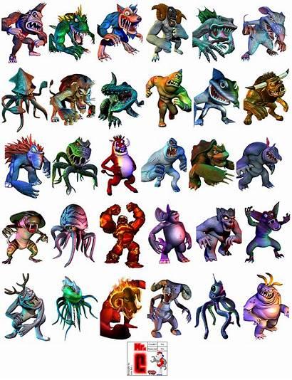 Rampage Destruction Total Monster Monsters Portraits Spriters