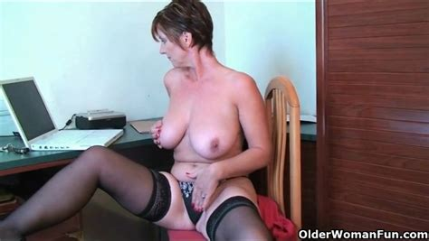 Big Russian Milf Tits Are Smoking Hot As She Plays Milf Porn