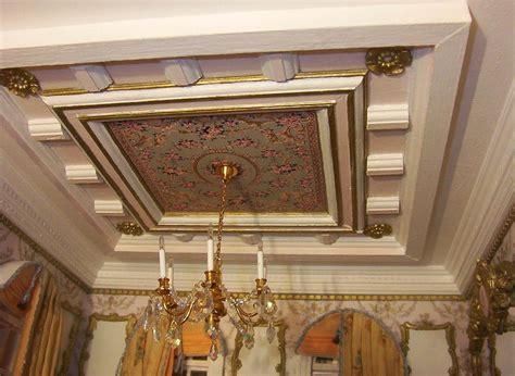 model  tipe plafon drop ceiling gypsum kayu minimalis