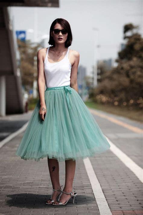 Tea Length Tulle Tutu Skirt