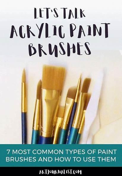 Acrylic Types Paint Brushes Painting Brush Uses