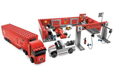 bricker konstruktor lego  pit stop ferrari
