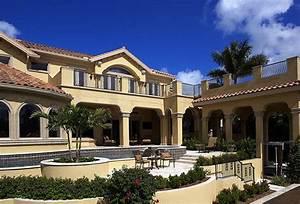 Coastal Contemporary Florida Mediterranean House Plan 71502