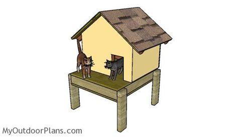 insulated cat house plans myoutdoorplans