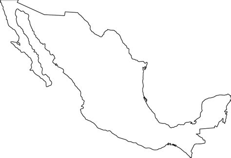 outline map  mexico outline map