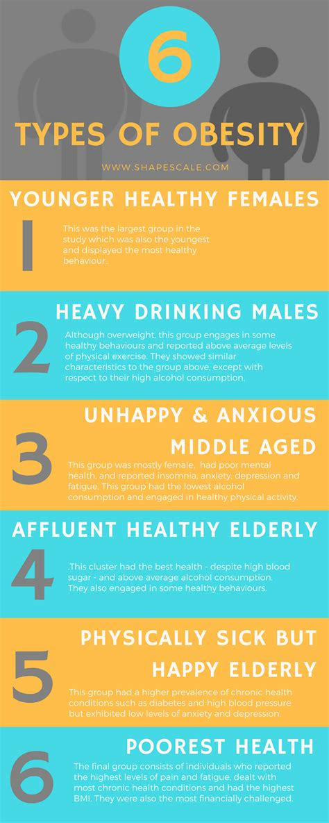 The Six Different Types Of Obesity