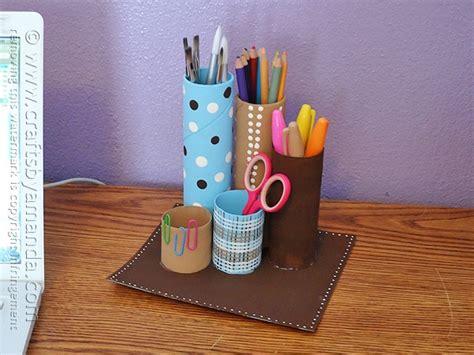 recycled cardboard tube desk caddy crafts  amanda