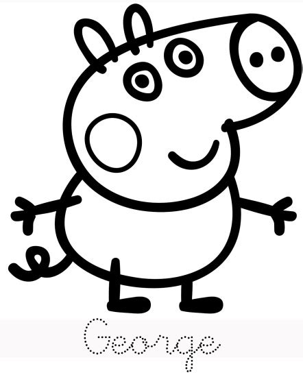 george trace peppa pig coloring pages