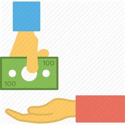 Money Loan Return Icon Borrow Lending Receiving