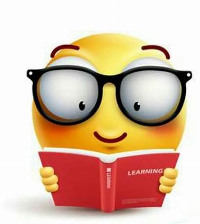 Smiley Emoji Emoticons Clipart Reading Bookish Faces