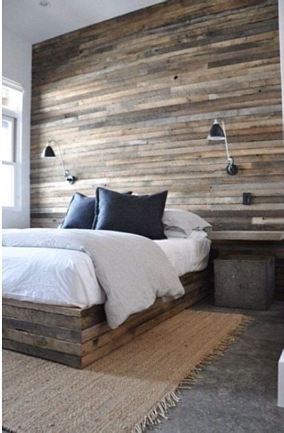 salvaged plank wood plank bed accent wall httpwww