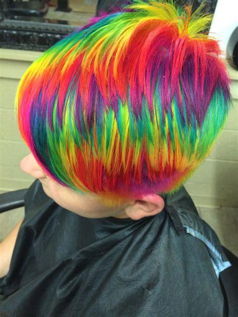 stunning rainbow hairstyles  ursula goff wellington ks