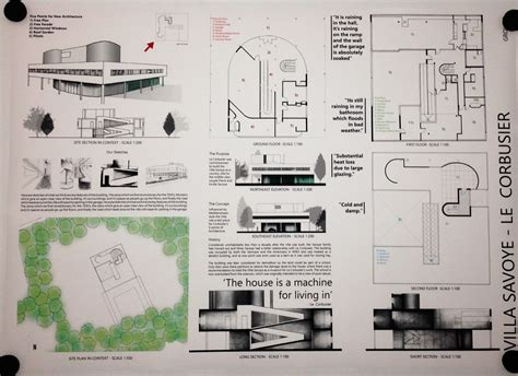 architectural layouts our journey villa savoye le corbusier