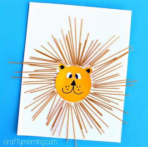 Diy Artwork Ideas by Spaghetti Lion Craft For Kids Crafty Morning