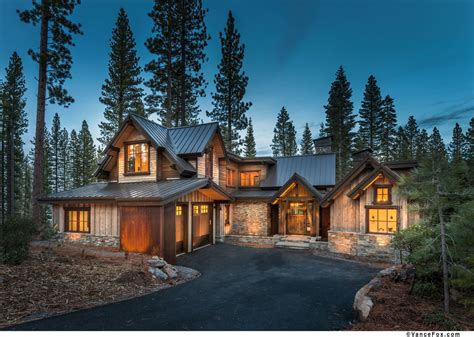 homes built into hillside mountain traditional architectural design montana timber