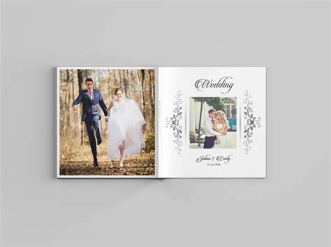 wedding album template  pages  behance
