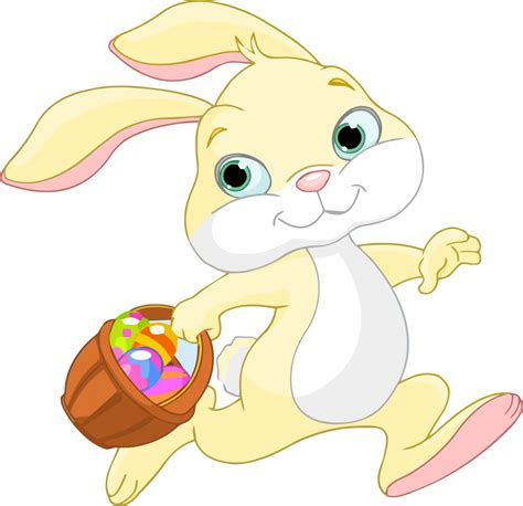 Free^ Happy Easter Clipart Images, Black And White Bunny
