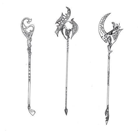 weapon staff collection ii  reinerelvenstar  deviantart