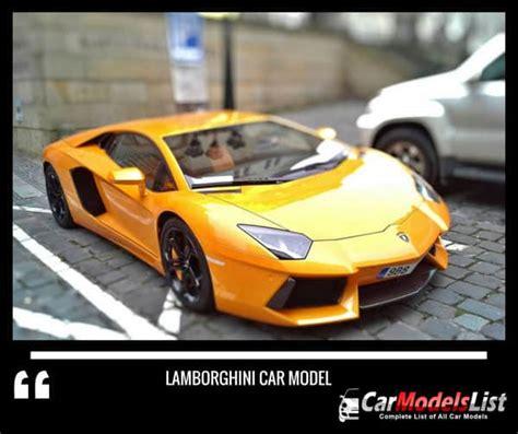 Full List Of Lamborghini Car