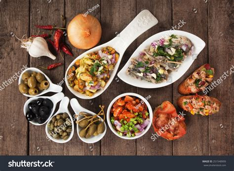 cuisine stock tapas antipasto food mediterranean cold buffet stock photo