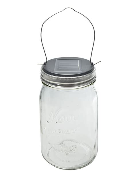 solar powered jar light set for wide jar lid