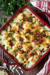 white cheddar cauliflower gratin cooking