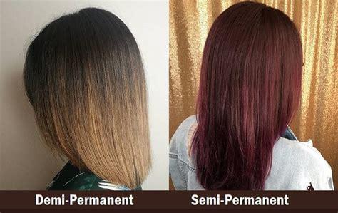 demi  semi permanent hair color   differences