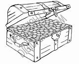 Treasure Chest Coloring Empty Pages Pirate Colouring Printable Template Fish sketch template