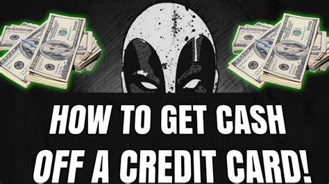Because of this, prepaid cards are essentially debit cards. HOW TO GET CASH OFF OF A CREDIT CARD! - YouTube