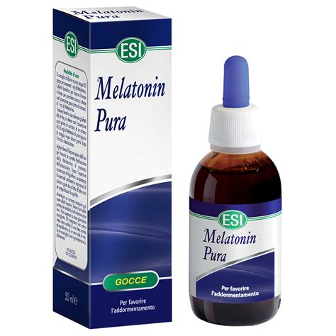 integratore rilassante  melatonina pura esi srl
